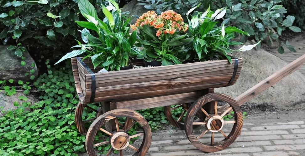 Деревянная мельница в саду своими руками 975