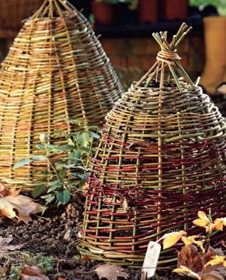 плетёное из лозы укрытие